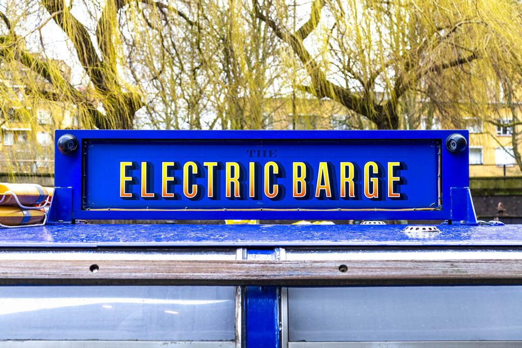 Electric Barge party boat for hire in Paddington, London, UK