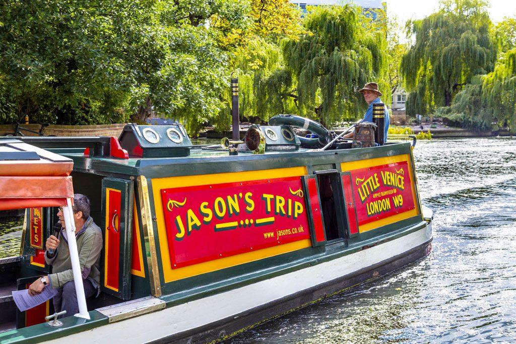 Jason's Trip Canal Tour Barge in Little Venice, Paddington, London, UK