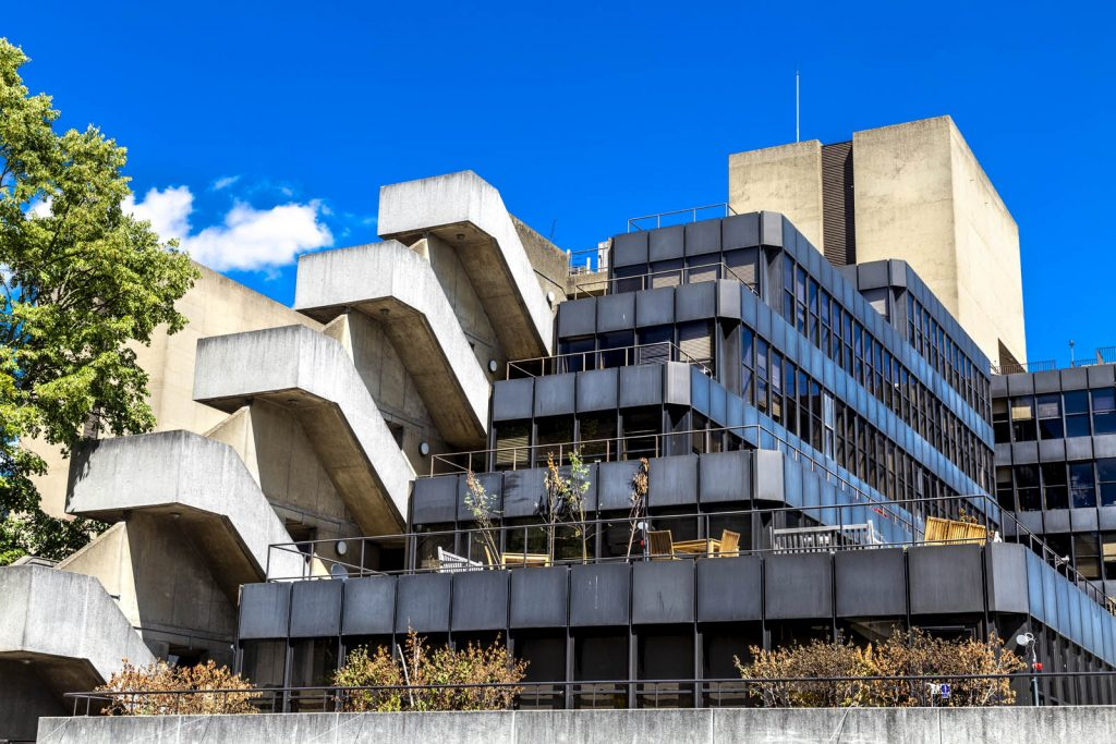 Cascading exterior of UCL Institute of Education, London, UK