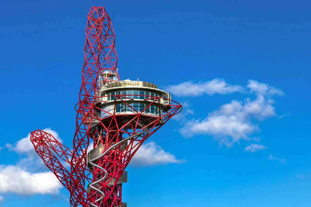 Observation deck at the ArcelorMittal Orbit, London, UK