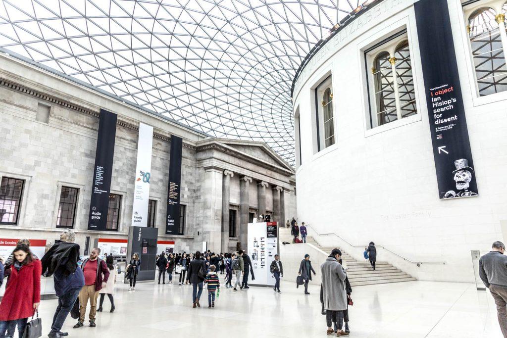 Great Court inside the British Museum, London, UK