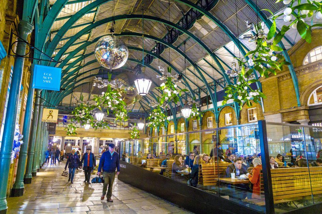 Interior of Covent Garden Market, London, UK