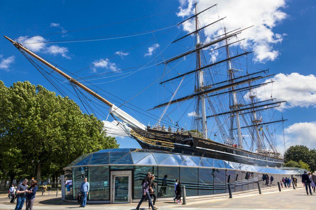 Cutty Sark clipper in Greenwich, London, UK
