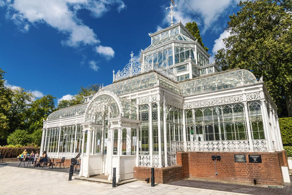 Victorian conservatory at Horniman Museum and Gardens, London, UK