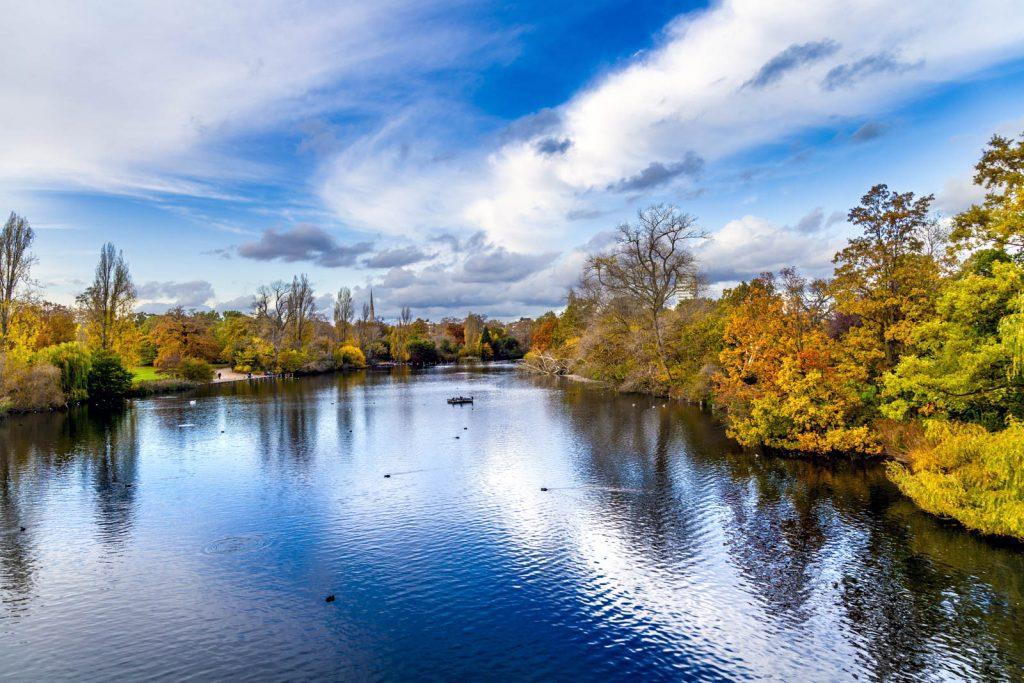 Autumn in Hyde Park, London, UK