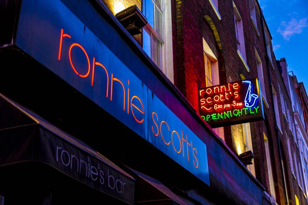 Famous Ronnie Scott's jazz club, Frith Street, Soho, London, UK