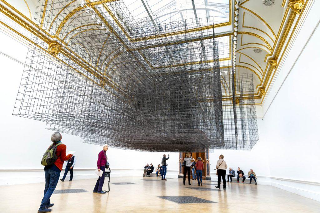 Antony Gormley exhibition at the Royal Academy, London, UK