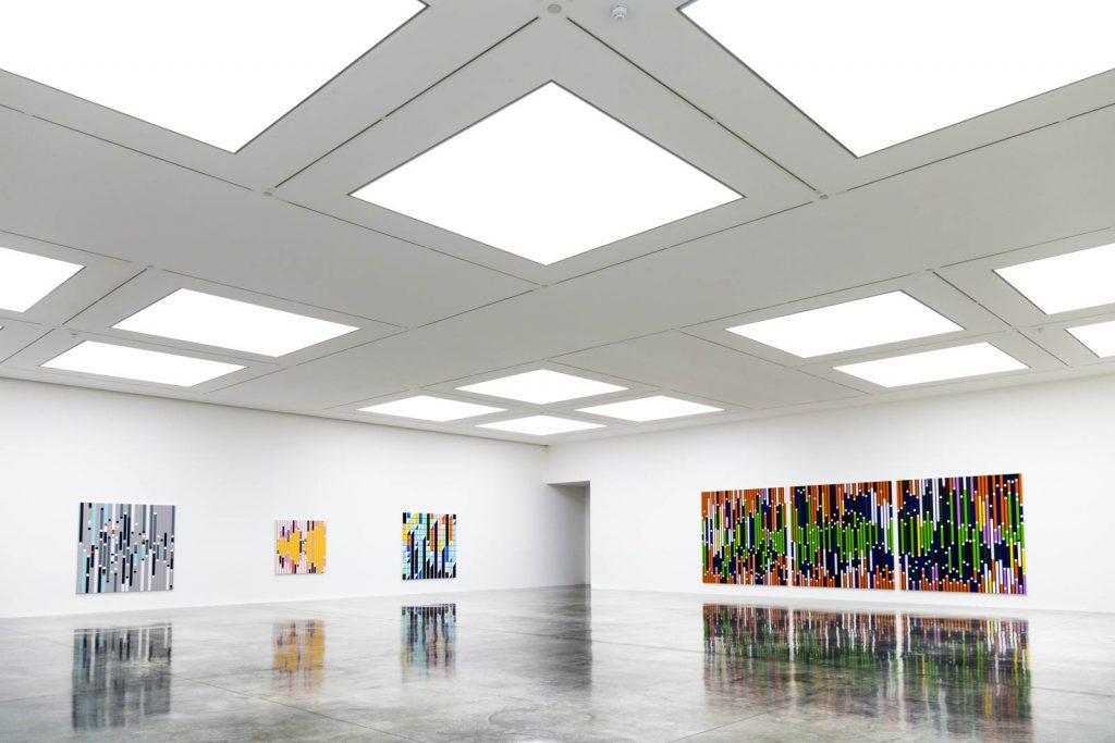 Sarah Morris exhibition at the White Cube, Bermondsey, London, UK