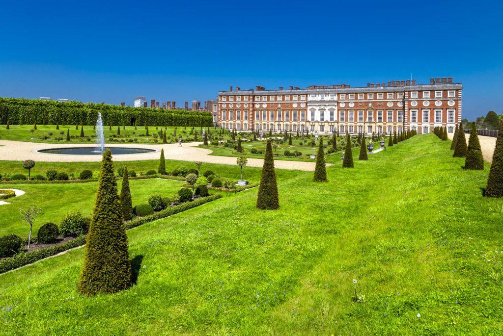 Gardens and Hampton Court Palace, London UK