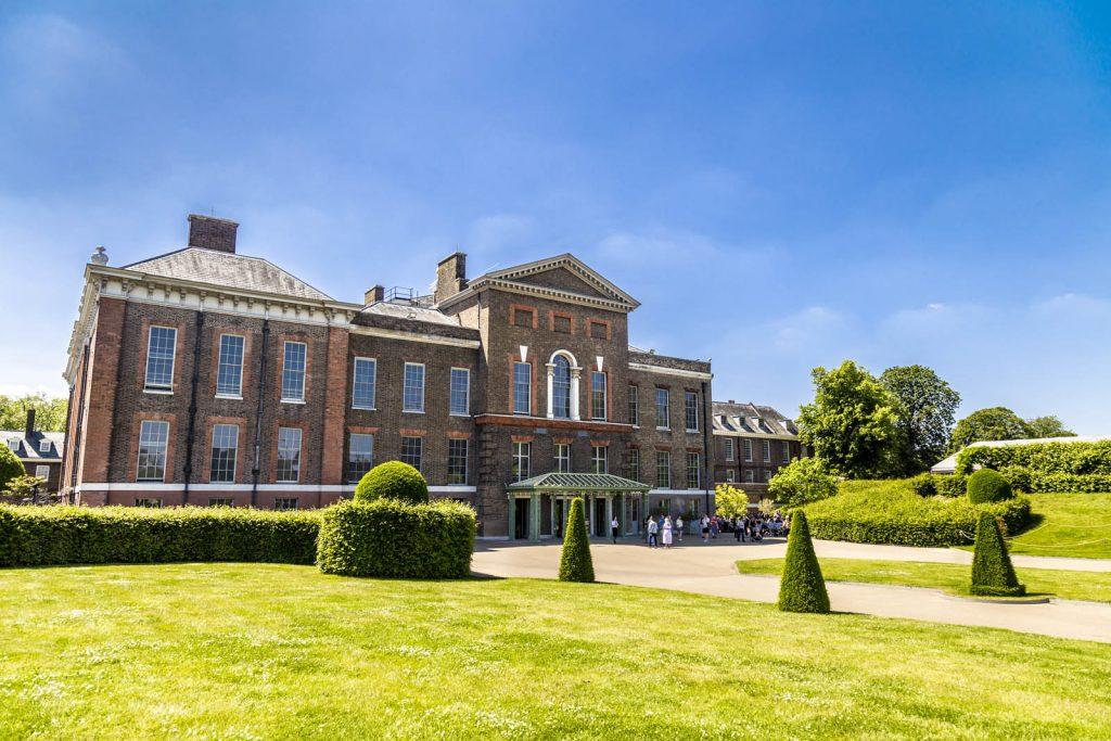 Kensington Palace in Hyde Park, London, UK