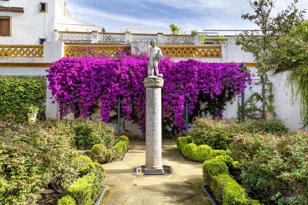 Garden at Casa de Pilatos (Pilate's House), Seville, Andalusia, Spain